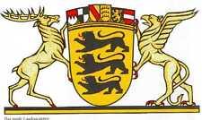 Baden-Württemberg 5 Histor. DM titoli motivo bastone raccolta azioni la raccolta