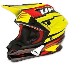 Taglia L - Casco UFO Mx Helmet Interceptor Enemy Giallo Fluo Nero Cross Enduro