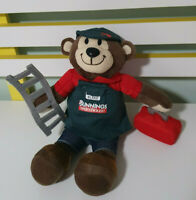 BLAKE THE BUNNINGS BEAR  WITH LADDER + TOOLBOX TOY PLUSH TOY 28CM TALL