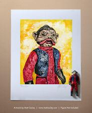 Star Wars NIEN NUNB Vintage Kenner Action Figure ORIGINAL ART PRINT 3.75 ROTJ