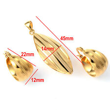 Womens lucky round hoop earrings Yellow gold fiiled wholesale lot free shipping