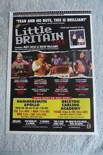 LITTLE BRITAIN - UK TOUR 2006 - ADVERT 20.5 x 29.5cm. MATT LUCAS, DAVID WALLIAMS