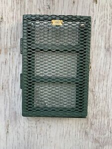 Military Industrial Style Recycled Metal Cabinet Spice Rack Brass Tag Latchet