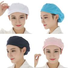Women Elastic Breathable Dust-proof Cap Kitchen Restaurant Bakery Chef Hat Cheap