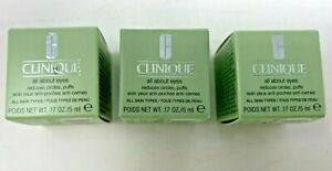 3 Pack CLINIQUE All About Eyes - New in Box - .17 Oz./Each