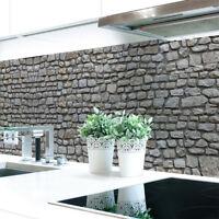 Küchenrückwand Naturstein Grau Premium Hart-PVC 0,4 mm selbstklebend