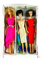 Lot (3) Barbie Dolls w/ Midge vintage 1960's Accessories + Case