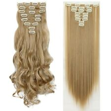 Real 8PC Clip In Hair Extensions Piece Hair Extention 100% Natural remy Hair AE6