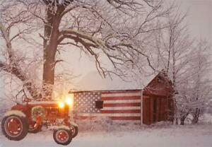 Americana country Led Canvas wall print - Battery Operated