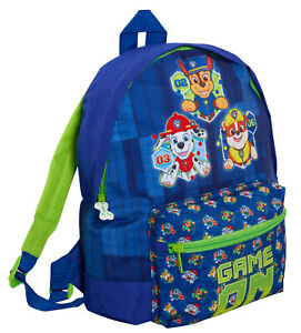 Kids Paw Patrol Backpack with pocket Chase Marshall Rubble School Nursery Bag