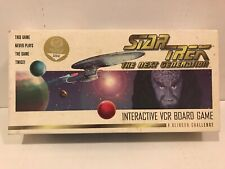 Star Trek NEXT GENERATION Interactive VCR Board Game A KLINGON CHALLENGE Vintage