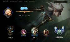 League of Legends NA account D5 112 skins, Missing only 5 champs, 18k BE,