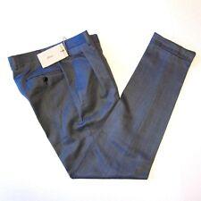 J-2776998 Nuevo Brioni Franela Gris Lana Plisado Pantalones Talla 48 Us 32