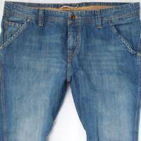 Mens HUGO BOSS ORANGE 57 Stretch Tapered Fit Blue Jeans W36 L32