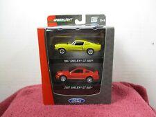 GREENLIGHT 2 - PACK 1967 & 2007 MUSTANG GT500