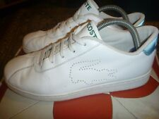 LACOSTE INDIANA SIZE UK 8 WHITE LEATHER TRAINERS