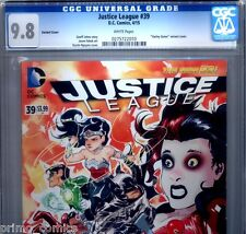 PRIMO:  JUSTICE LEAGUE #39 NM/MT 9.8 CGC  Highest HARLEY QUINN DC New 52 comics