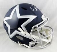 Ezekiel Elliott Signed Dallas Cowboys F/S AMP Speed Helmet- Beckett Auth *
