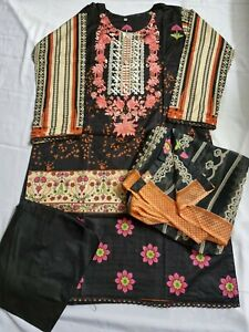 Lawn Suit Embroidered Printed Ready Made Asian Indian Pakistani Salwar Kameez