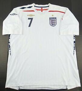 Vintage Umbro 2007-2009 England David Beckham Soccer Jersey Size Men's XXL