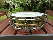 "Worldmax 14""x4"" Hammered Brass Snare Drum"