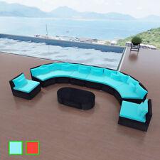 Poly Rattan Gartenmöbel Sitzgruppe Sitzgarnitur Sofa Set Lounge  Gartengarnitur