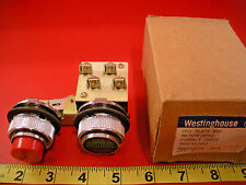 Westinghouse 506C933G01 Pushbutton Switch OT2 Black Red OTIA Maintained Nib New