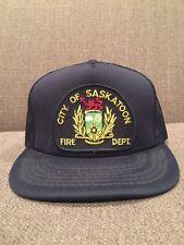 Vintage City Of Saskatoon Fire Department Mesh Trucker Hat Saskatchewan Canada