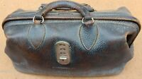 Fantastic Antique Leather Gold Inscribed GC RICHARDSON M.D. Doctors Medical Bag