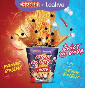 NEW MAMEE Spicy Instant Noodle Ramen Boba Milk Tea Black Pearl PARTY FUN SUMMER