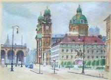A4 Print – Acquerello dipinto di Adolf Hitler (REPLICA opera d'arte ART foto)