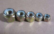COARSE Grade 8 Nylon Insert Hex Lock Nut Assortment KIT Zinc Plated 125pc Nyloks