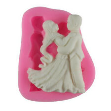 3D Silicone Cake Model Mold Bride And Groom Dance Shape Wedding Decorating Tool