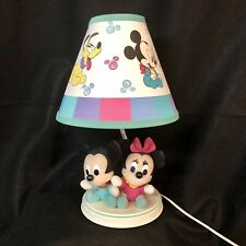 Disney Dolly Baby Mickey & Minnie Mouse Lamp Night Light Toy Plush Figures