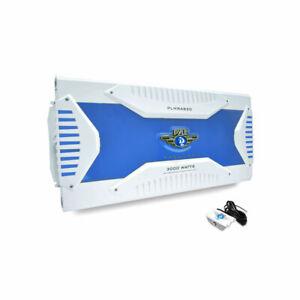 Pyle Elite 8 Channel 3000 Watt Amp Waterproof Marine Bridgeable Amplifier, White