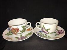 Cordon Bleu Espresso/Demitasse Cups and Saucers(2), Frieda Floral Collection