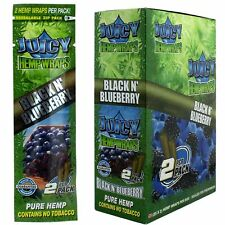 Full Box 25x Packs ( Juicy Jay's Jay Black N Blueberry Hemp Wraps ) And &