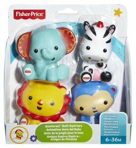 Fisher-Price Rainforest Bath Squirters - Set of 4 (DHJ88)