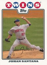 Johan Santana 2008 Topps #115 Minnesota Twins baseball card
