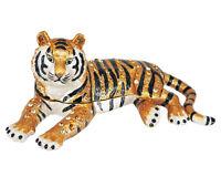 RUCINNI Tiger Jeweled Trinket Box