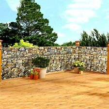 15 Ft. Faux STONE Privacy Fence Deck Wall Weather Resistant Screen Cover