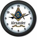 Masonic Freemason Mason Lodge Wall Clock - Freemasonry Home Office - GREAT GIFT
