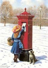 Victorian Nostalgia Christmas Card - Hexagonal Post Box - Xmas Post by Ken Walsh