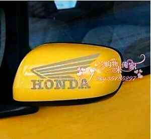 A Pair Rearview Mirror Car body /Motorcycle Stickers Decals For Honda(White)