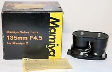 Mamiya Sekor 135mm f/4.5 Blue Dot Lens For C220, C33, C330 Beautiful In Box