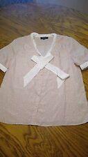Jason Wu For Target Pink Polka Dot Short Sleeve Blouse Size XL