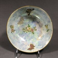 Early 20th Century Staffordshire Wilton Ware Butterfly Luster Bowl