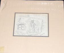 "Robert Aaron ""Bob"" Brown Double Sided Preliminary Studies Tar Original Fine Art"