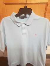 Ralph Lauren Polo Baby Light Blue Cotton Classic Polo Shirt XL Pink PONY