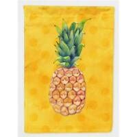 Carolines Treasures BB8192CHF Pineapple Yellow Polkadot Flag Canvas House Size